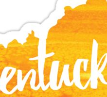 Kentucky - yellow watercolor Sticker