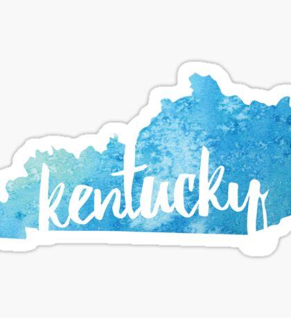 Kentucky - Light blue watercolor Sticker