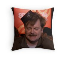 Ron Swanson Dancing Throw Pillow