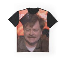 Ron Swanson Dancing Graphic T-Shirt