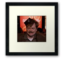 Ron Swanson Dancing Framed Print
