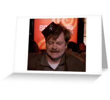Ron Swanson Dancing Greeting Card