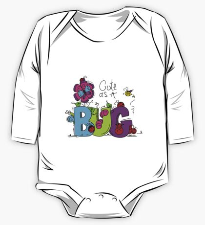 Cute as a Bug Insects One Piece - Long Sleeve