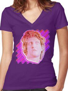 VAPORWAVE MAN  Women's Fitted V-Neck T-Shirt