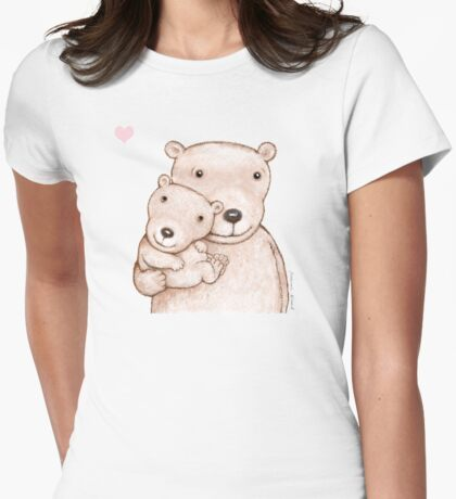 Lovely bears Womens Fitted T-Shirt