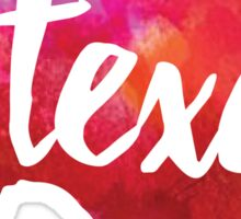 Texas - watercolor Sticker