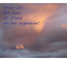 Sunset Sentiment Photographic Print