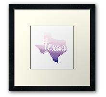 Texas - purple watercolor Framed Print