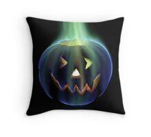 Rainbow Fire Halloween Jack o' Lantern Throw Pillow