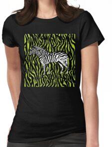 Zebra - animal colour pop art Womens Fitted T-Shirt