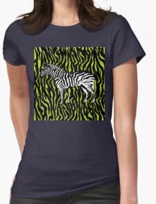 Zebra - animal colour pop art Womens Fitted T-Shirt