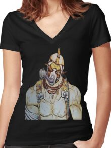 Krieg the psycho Women's Fitted V-Neck T-Shirt