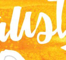 Austin, Texas - yellow watercolor Sticker
