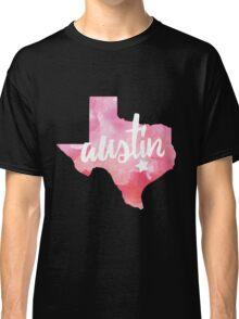 Austin, Texas - pink watercolor Classic T-Shirt