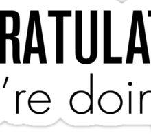 Congratulations! Sticker