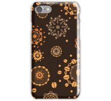- Coffee pattern - black - iPhone Case/Skin