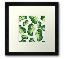 - Broccoli pattern (white) - Framed Print
