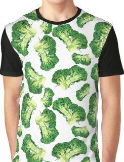 - Broccoli pattern (white) - Graphic T-Shirt