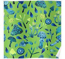 - Mushroom pattern (green) - Poster