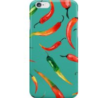 - Chilli pattern (turquoise) - iPhone Case/Skin