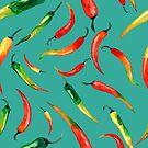 - Chilli pattern (turquoise) - by Losenko  Mila