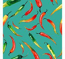 - Chilli pattern (turquoise) - Photographic Print