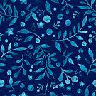 - Azure watercolor pattern (deep blue) -  by Losenko  Mila