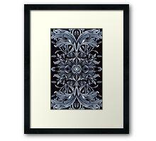 - Black pattern - Framed Print