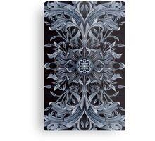 - Black pattern - Metal Print