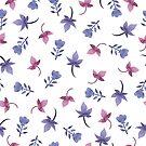 - Cute watercolor flower pattern - by Losenko  Mila