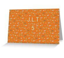 Pattern JLT 5 Darjeeling Limited & Hotel Chevalier Greeting Card