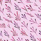 - Purple plants pattern - by Losenko  Mila