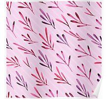 - Purple plants pattern - Poster