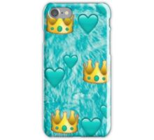 emoji crown pattern iPhone Case/Skin