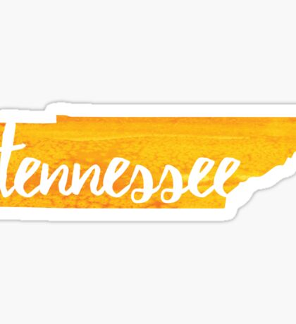 Tennessee - yellow watercolor Sticker
