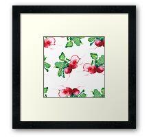 - Radish pattern (white) - Framed Print
