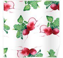 - Radish pattern (white) - Poster
