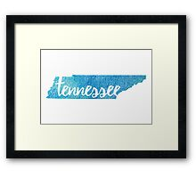 Tennessee - blue sparkle Framed Print