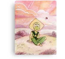 Peace and Love on the Planet Earth - Steven Universe Peridot Metal Print