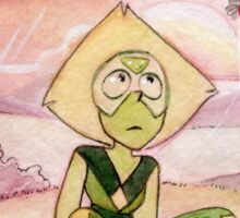 Peace and Love on the Planet Earth - Steven Universe Peridot Sticker