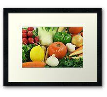 Vegetables, Fruits, Ingradients and Spices  Framed Print