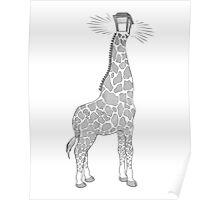 Giraffe Lamp Poster