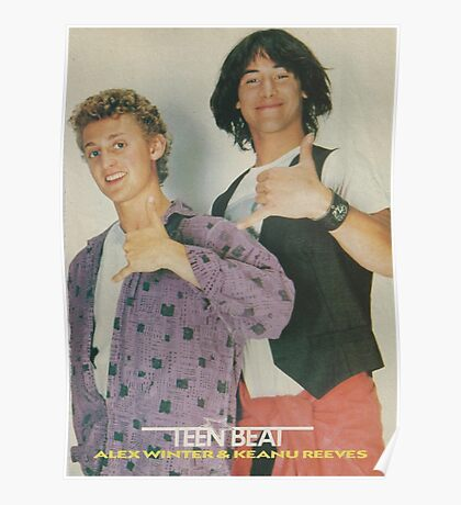 Bill and Ted Teen Beat cover Poster