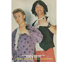 Bill and Ted Teen Beat cover Photographic Print