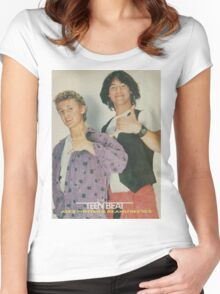 Bill and Ted Teen Beat cover Women's Fitted Scoop T-Shirt