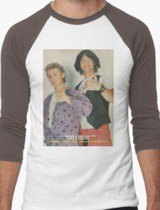 Bill and Ted Teen Beat cover Men's Baseball ¾ T-Shirt