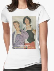 Bill and Ted Teen Beat cover Womens Fitted T-Shirt