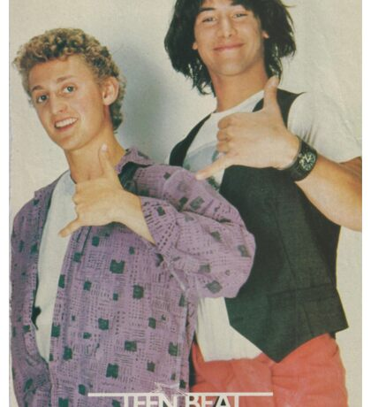 Bill and Ted Teen Beat cover Sticker