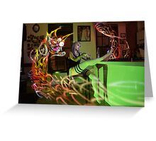 Kitty Noodle Whiskey Ghost Greeting Card