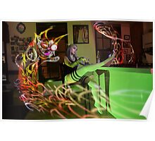 Kitty Noodle Whiskey Ghost Poster